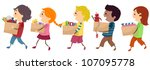 illustration featuring kids... | Shutterstock .eps vector #107095778