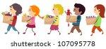 illustration featuring kids... | Shutterstock .eps vector #107095778