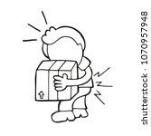 vector hand drawn cartoon... | Shutterstock .eps vector #1070957948