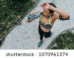 high angle shot of a young... | Shutterstock . vector #1070961374