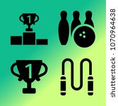 vector icon set about fitness... | Shutterstock .eps vector #1070964638