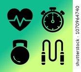 vector icon set about fitness... | Shutterstock .eps vector #1070964740