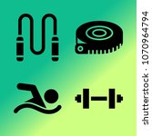 vector icon set about fitness... | Shutterstock .eps vector #1070964794