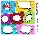 comic book background with... | Shutterstock .eps vector #1070970074