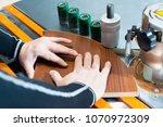 carpenter works for edge... | Shutterstock . vector #1070972309