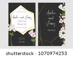 save the date card  wedding... | Shutterstock .eps vector #1070974253