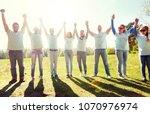 volunteering  charity and...   Shutterstock . vector #1070976974