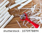 white asparagus preparation and ...   Shutterstock . vector #1070978894