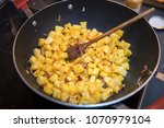 cooking pineapple curry in the...   Shutterstock . vector #1070979104