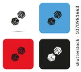 dice flat vector icon. | Shutterstock .eps vector #1070981663