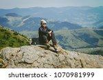 lifestyle adventure concept... | Shutterstock . vector #1070981999