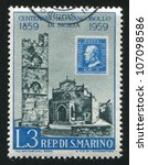 san marino   circa 1959  stamp... | Shutterstock . vector #107098586