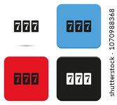 triple lucky sevens burst flat...   Shutterstock .eps vector #1070988368