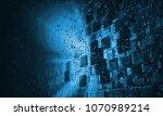 3d rendering of technology... | Shutterstock . vector #1070989214