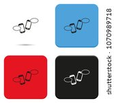 two smartphones with blank... | Shutterstock .eps vector #1070989718