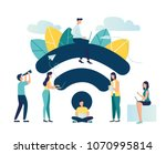 vector illustration  public... | Shutterstock .eps vector #1070995814