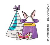 magic and party hats | Shutterstock .eps vector #1070996924
