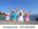 family with two children... | Shutterstock . vector #1071001856