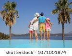 family with two children...   Shutterstock . vector #1071001874