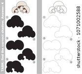 mushroom vegetable set to find... | Shutterstock .eps vector #1071002588