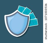 security shield icon | Shutterstock .eps vector #1071003536
