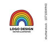 rainbow doodle icon | Shutterstock .eps vector #1071004943