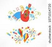 festa junina compositions with... | Shutterstock .eps vector #1071014720