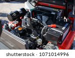 modern hi tech engine or motor... | Shutterstock . vector #1071014996