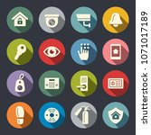 home security icons | Shutterstock .eps vector #1071017189