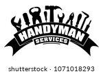 handyman services vector design ... | Shutterstock .eps vector #1071018293
