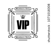 black rich decorated square vip ... | Shutterstock .eps vector #1071018308