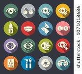 eye medical icons | Shutterstock .eps vector #1071018686