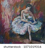 Ballerina Painting Acrylic And...
