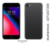 smartphone in iphone style... | Shutterstock .eps vector #1071027200