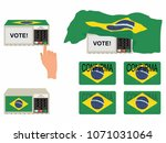 electoral elements with flag...   Shutterstock .eps vector #1071031064