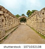 olympia  greece ancient... | Shutterstock . vector #1071032138