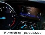 digital dashboard of a modern... | Shutterstock . vector #1071032270