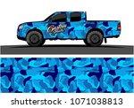 modern camouflage design for... | Shutterstock .eps vector #1071038813
