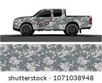 modern camouflage design for...   Shutterstock .eps vector #1071038948