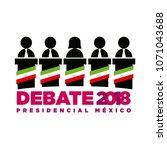 presidential debate. elections... | Shutterstock .eps vector #1071043688