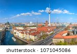 aerial view of central berlin... | Shutterstock . vector #1071045086