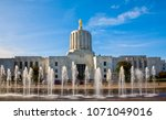 the oregon state capitol... | Shutterstock . vector #1071049016