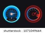 set of speedometers for... | Shutterstock .eps vector #1071049664