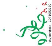 colorful star ribbon confetti.... | Shutterstock .eps vector #1071053330