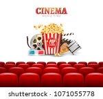movie cinema premiere poster... | Shutterstock .eps vector #1071055778
