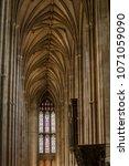 wells cathedral  somerset ... | Shutterstock . vector #1071059090