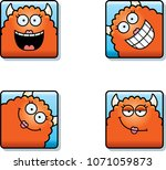 a cartoon icon set of a monster ... | Shutterstock .eps vector #1071059873