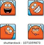 a cartoon icon set of a monster ... | Shutterstock .eps vector #1071059873
