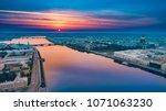 saint petersburg morning.... | Shutterstock . vector #1071063230