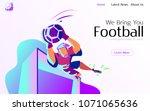 football vector illustration...
